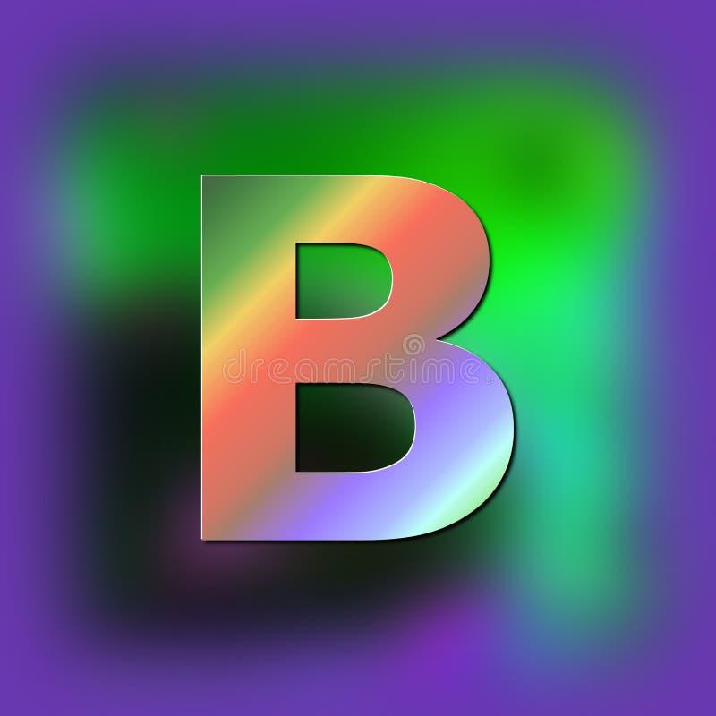 De brief B wordt geplaatst op de textuur stock illustratie