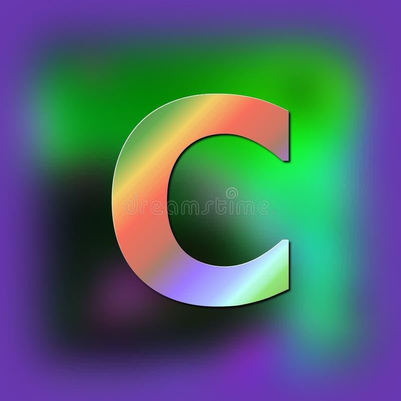 De brief C wordt geplaatst op de textuur royalty-vrije illustratie