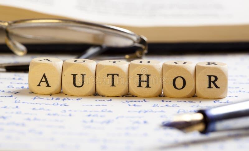 De brief dobbelt Concept: Auteur royalty-vrije stock foto