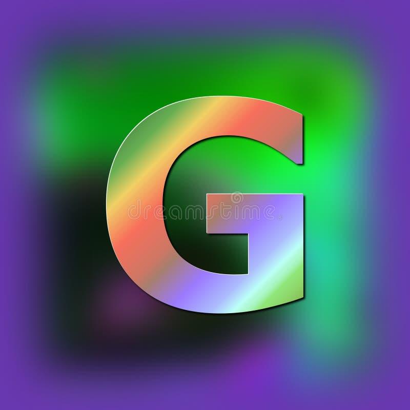 De brief G wordt geplaatst op de textuur royalty-vrije illustratie