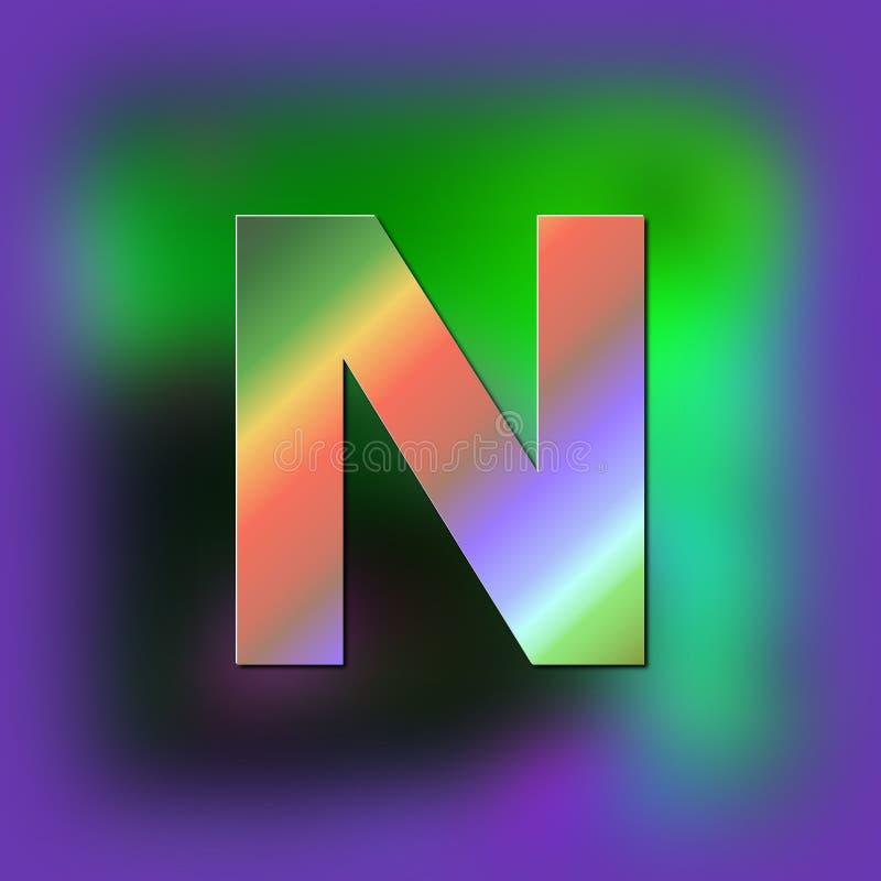 De brief N wordt geplaatst op de textuur royalty-vrije illustratie