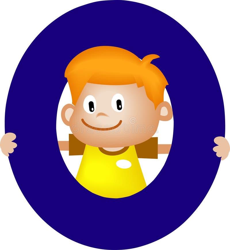 De brief O van het alfabet (jongen) stock illustratie