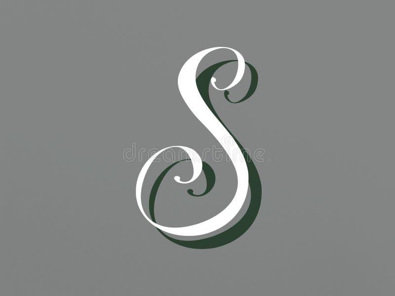 De brief S in modieus ontwerp vector illustratie