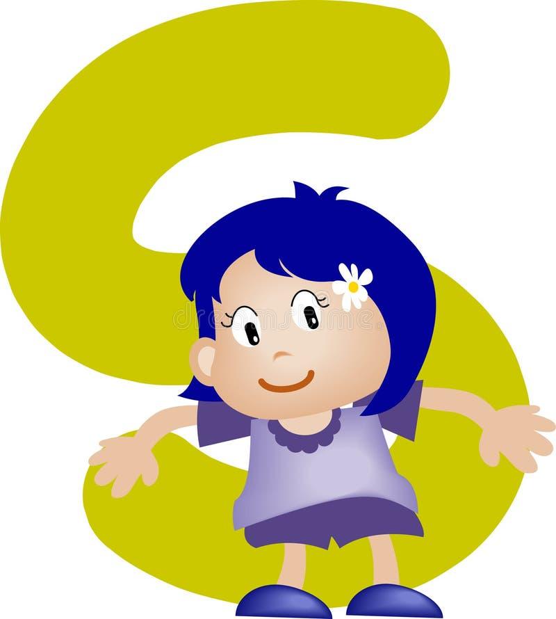 De brief S van het alfabet (meisje) vector illustratie