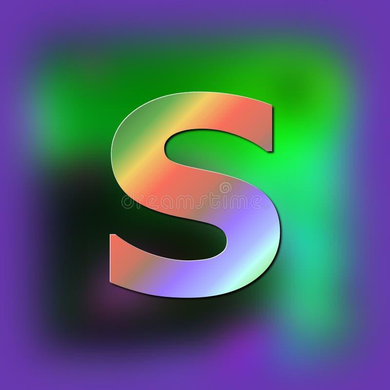 De brief S wordt geplaatst op de textuur royalty-vrije illustratie