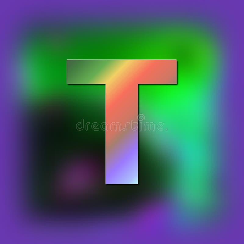De brief T wordt geplaatst op de textuur royalty-vrije illustratie