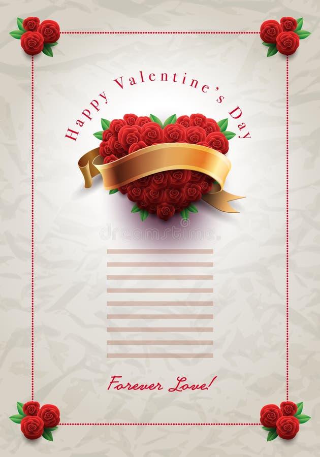 De Brief van de de Dagliefde van Valentine vector illustratie