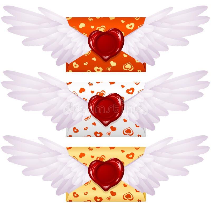 De brief van de liefde stock illustratie