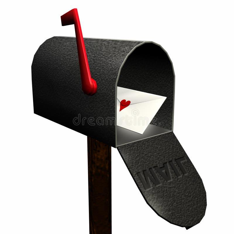 De Brief van de liefde royalty-vrije illustratie