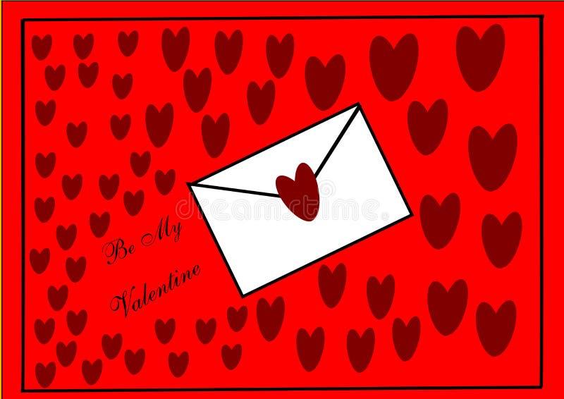 De Brief van de valentijnskaart royalty-vrije illustratie