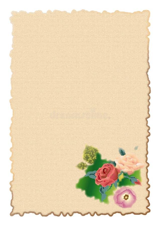 De brief van de verjaardag royalty-vrije illustratie