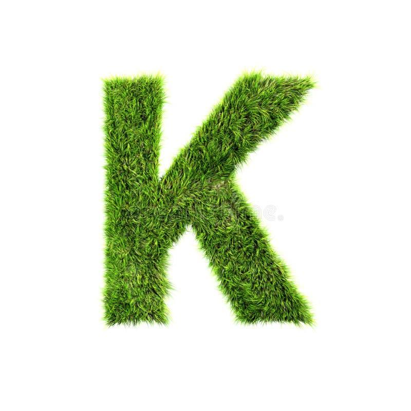 De brief van het gras stock illustratie