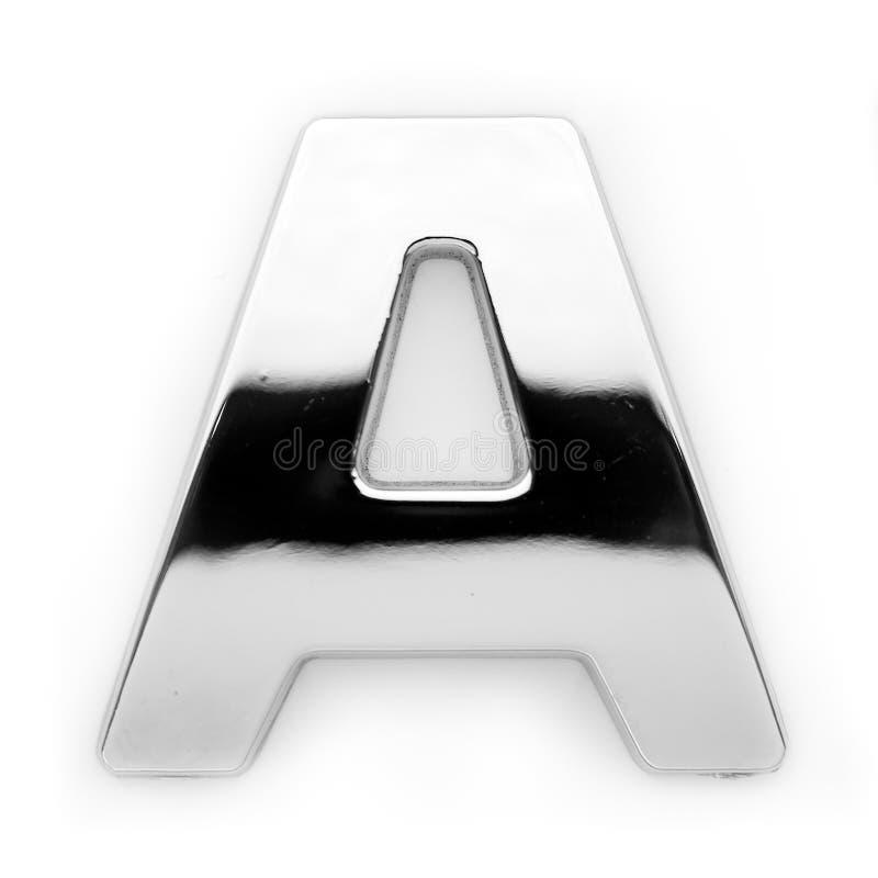 A - de brief van het Metaal stock afbeelding