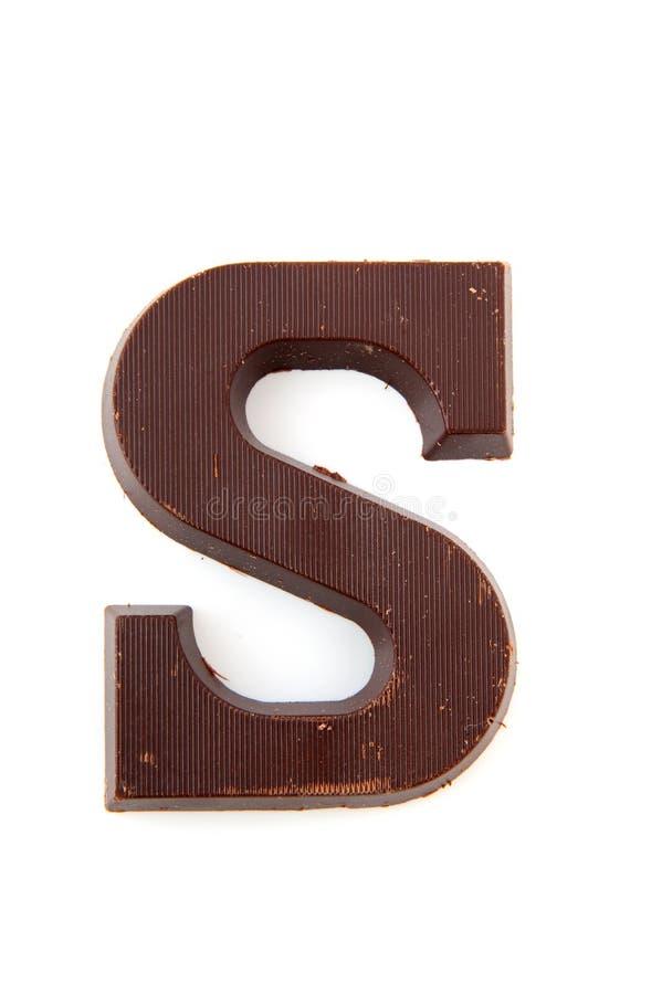 De brief van Sinterklaas van de chocolade stock afbeelding