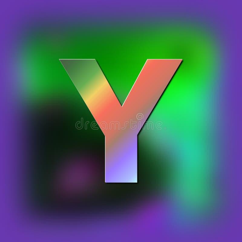 De brief Y wordt geplaatst op de textuur vector illustratie