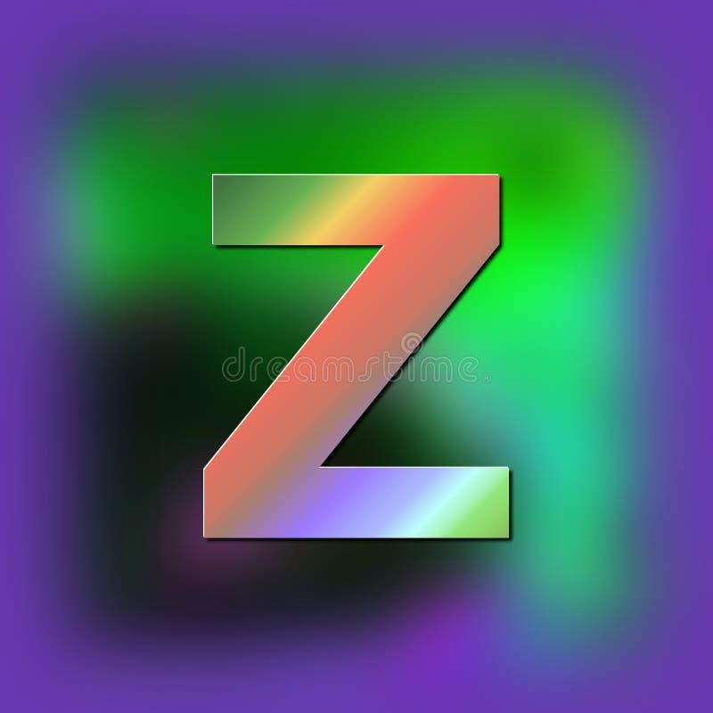 De brief Z wordt geplaatst op de textuur royalty-vrije illustratie