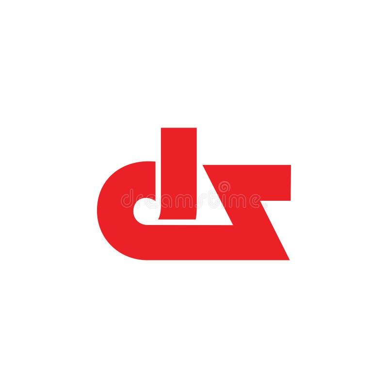 De brieven DZ verbonden geometrische embleemvector royalty-vrije illustratie