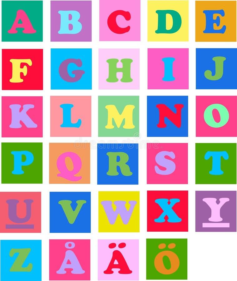 De brieven van Alphabeth royalty-vrije illustratie