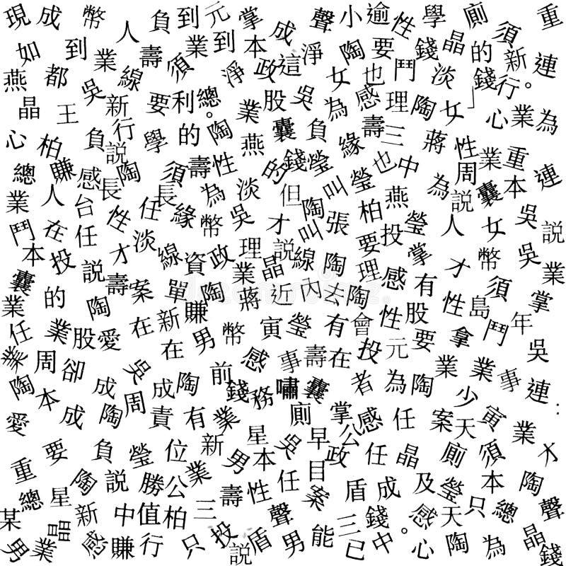 De brieven van de abstracte Japanse krant royalty-vrije stock foto's