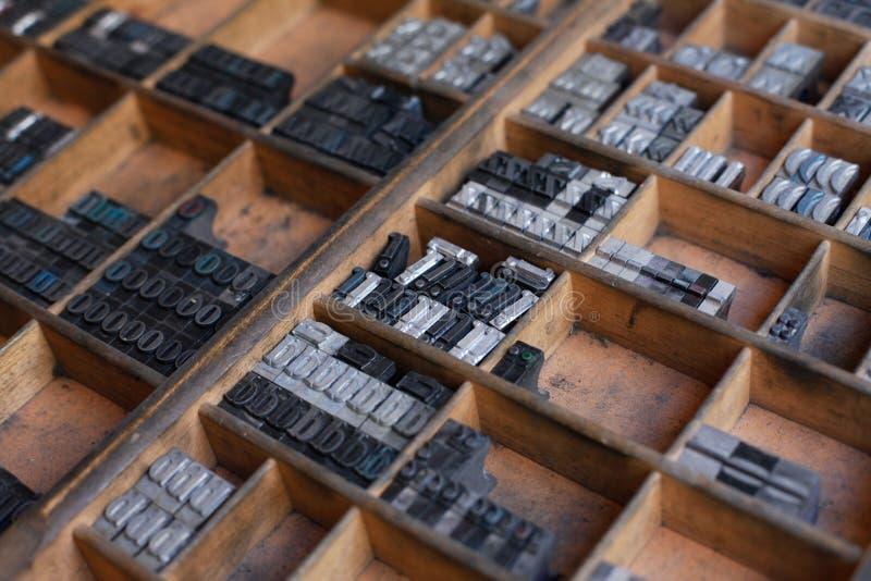De brieven van de metaaldrukpers royalty-vrije stock foto