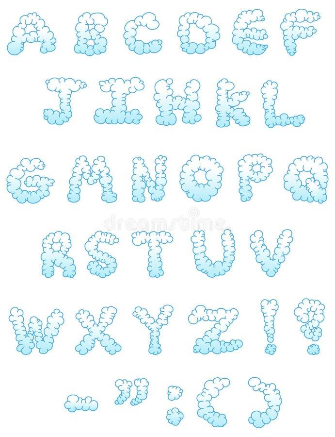 De brieven van de wolk vector illustratie