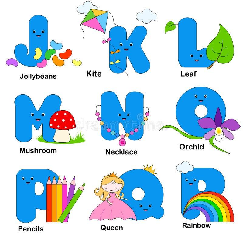 De brieven van het alfabet royalty-vrije illustratie