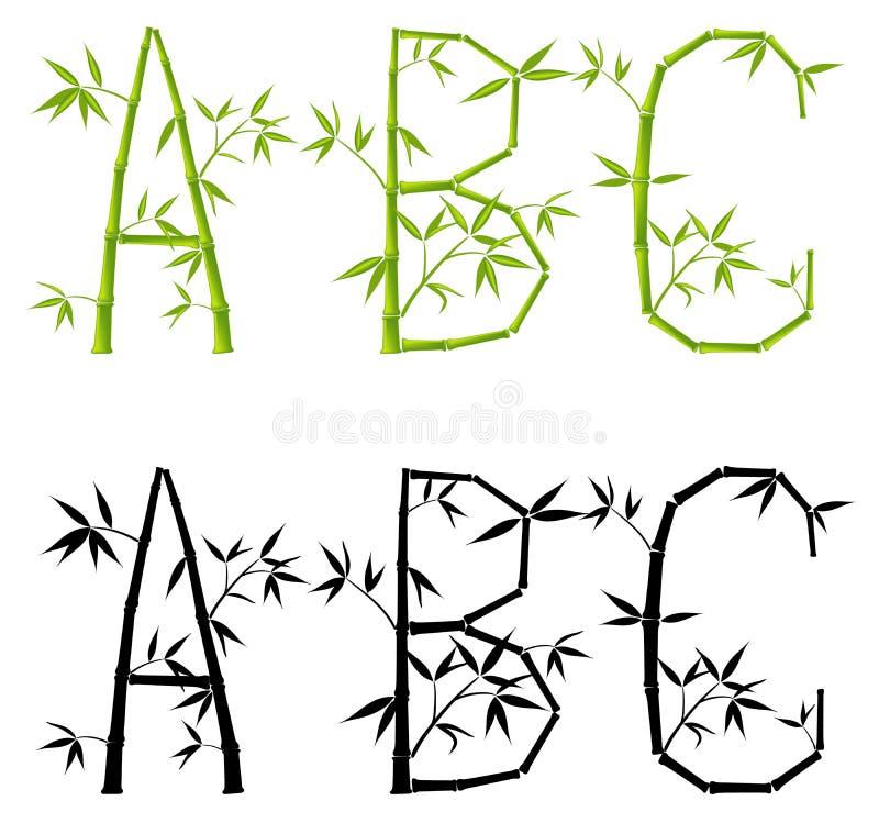 De brieven van het bamboe, reeks, (netwerk) royalty-vrije illustratie