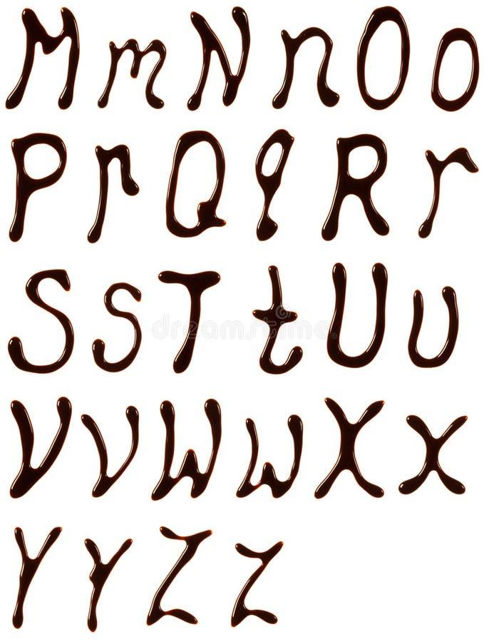 De brieven van het chocoladealfabet royalty-vrije stock afbeelding