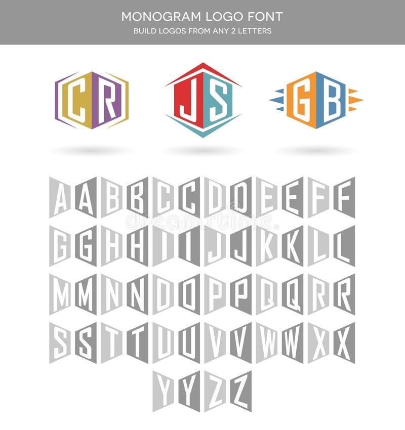 De brieven van het monogramembleem stock illustratie