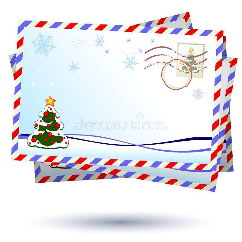 De brieven van Kerstmis stock illustratie