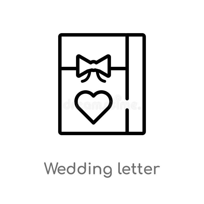 de brieven vectorpictogram van het overzichtshuwelijk r vector illustratie