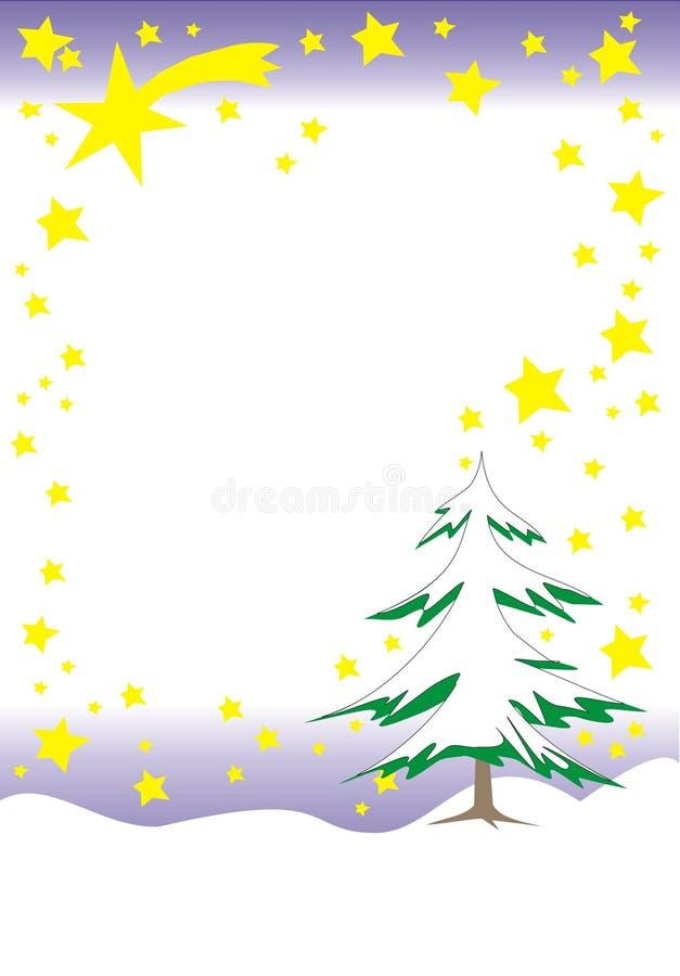 De brievenachtergrond van Kerstmis royalty-vrije illustratie