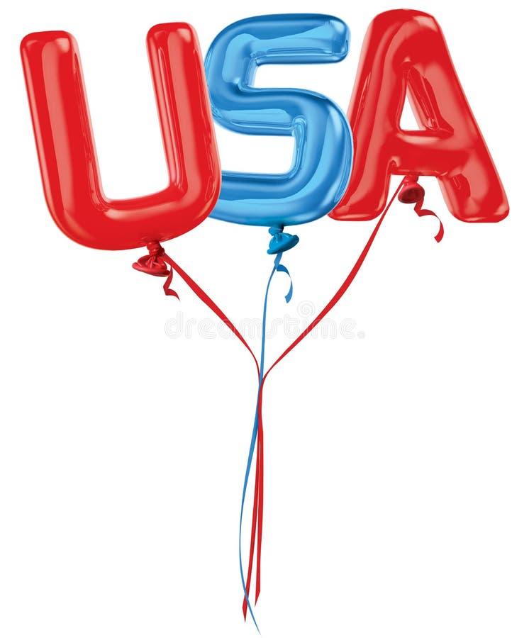 De brievenballons van de V.S. royalty-vrije stock afbeelding