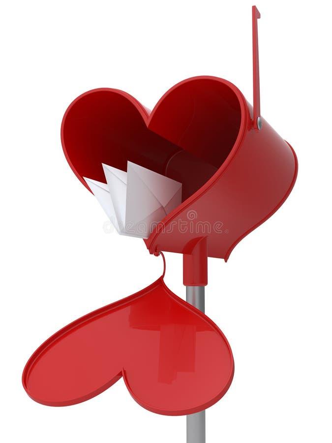 De brievenbus van de liefde vector illustratie