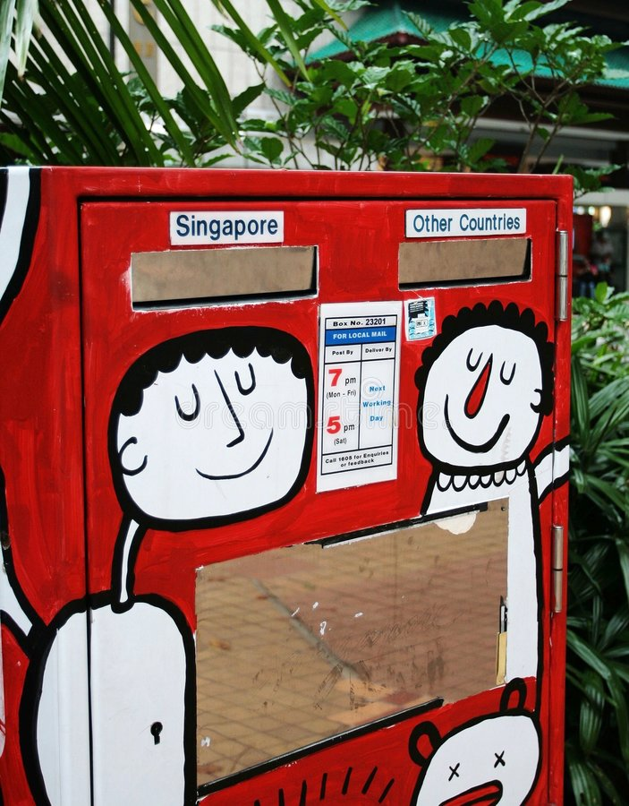 De Brievenbus van Singapore royalty-vrije stock foto's