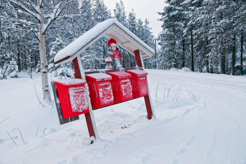De brievenbussen van Kerstmis royalty-vrije stock fotografie