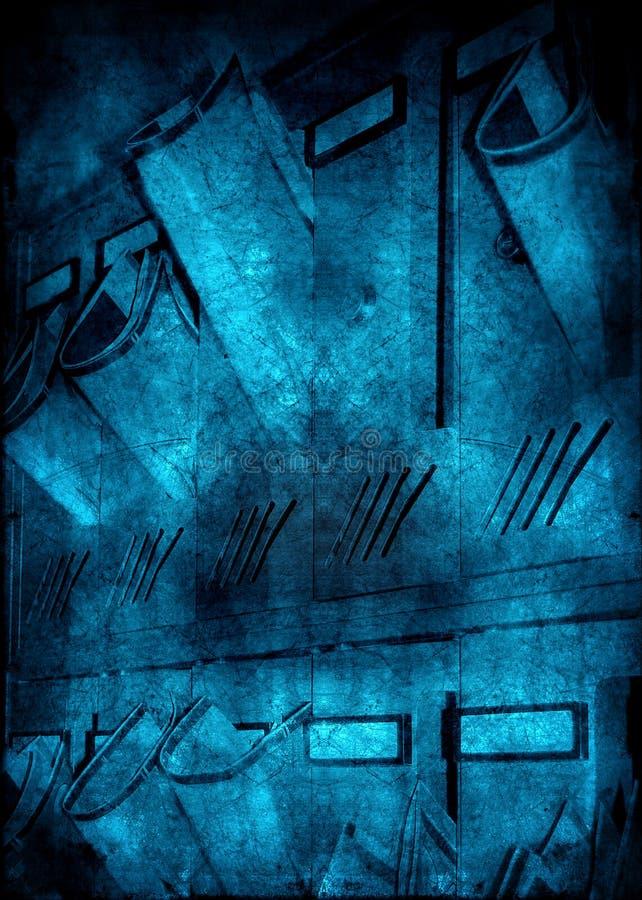 De brievenbussenachtergrond van Grunge stock illustratie
