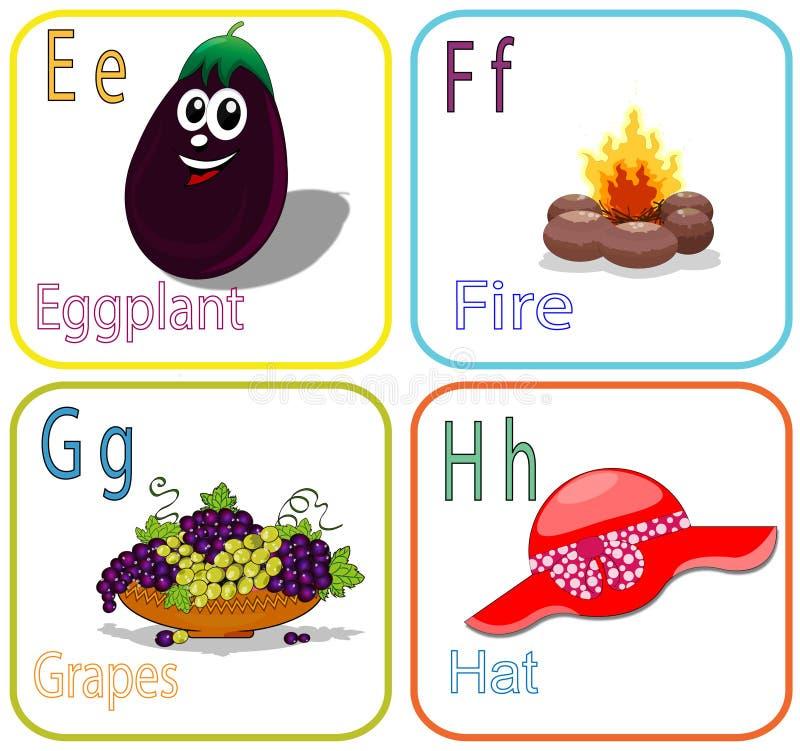 De brievenschoolbord van het alfabet stock foto