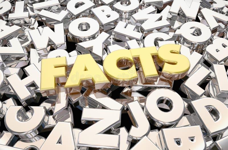 De Brievenword van de feitenwaarheid Geverifieerd Informatie royalty-vrije illustratie