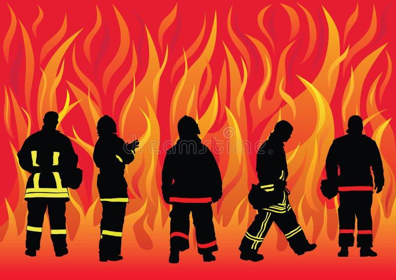De brigade van de brand stock illustratie