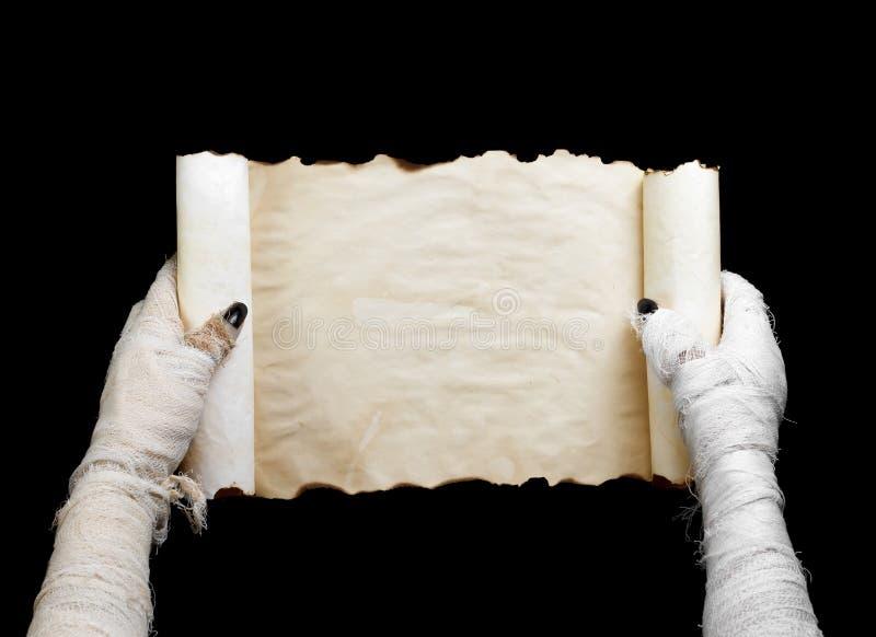 De brij houdt ter beschikking manuscript royalty-vrije stock afbeelding