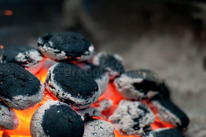 De briketten van de grill royalty-vrije stock foto's