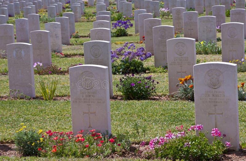 De Britse begraafplaats in Be'er Sheva stock foto's
