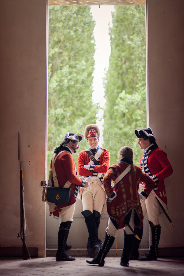 De Britse Militairen van het Leger royalty-vrije stock foto's