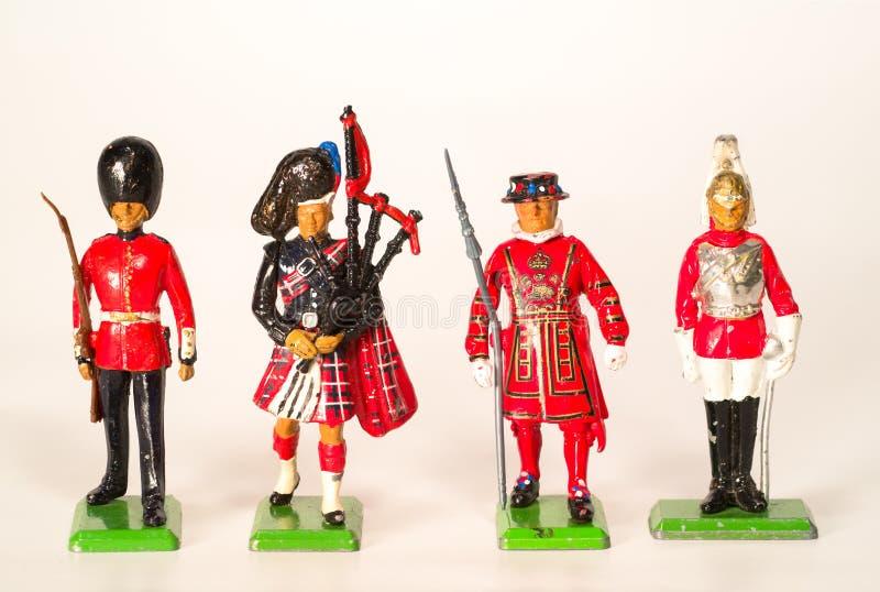 De Britse Militairen van het Stuk speelgoed stock afbeelding