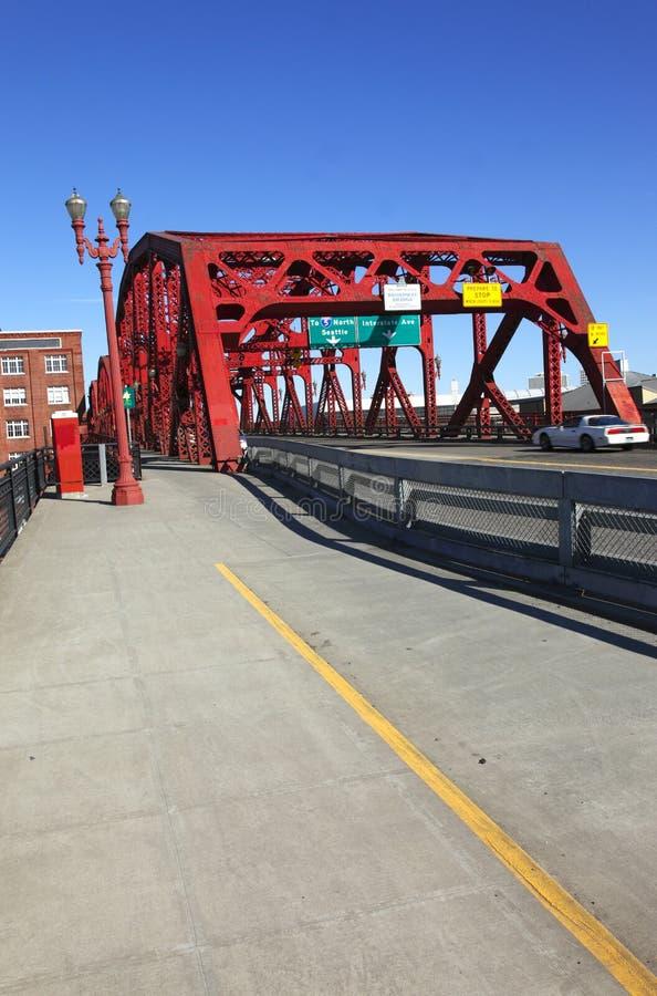 De Broadway brug, Portland OF. stock foto