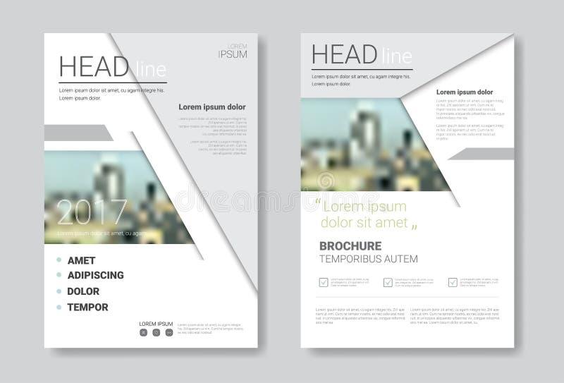 De Brochure van het malplaatjeontwerp, Jaarverslag, Tijdschrift, Affiche, Collectieve Presentatie, Portefeuille, Vlieger met Exem vector illustratie
