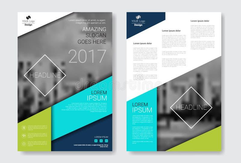 De Brochure van het malplaatjeontwerp, Jaarverslag, Tijdschrift, Affiche, Collectieve Presentatie, Portefeuille, Vlieger met Exem royalty-vrije illustratie