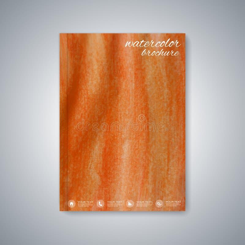 De brochure van het waterverfmalplaatje, tijdschrift, vlieger stock illustratie