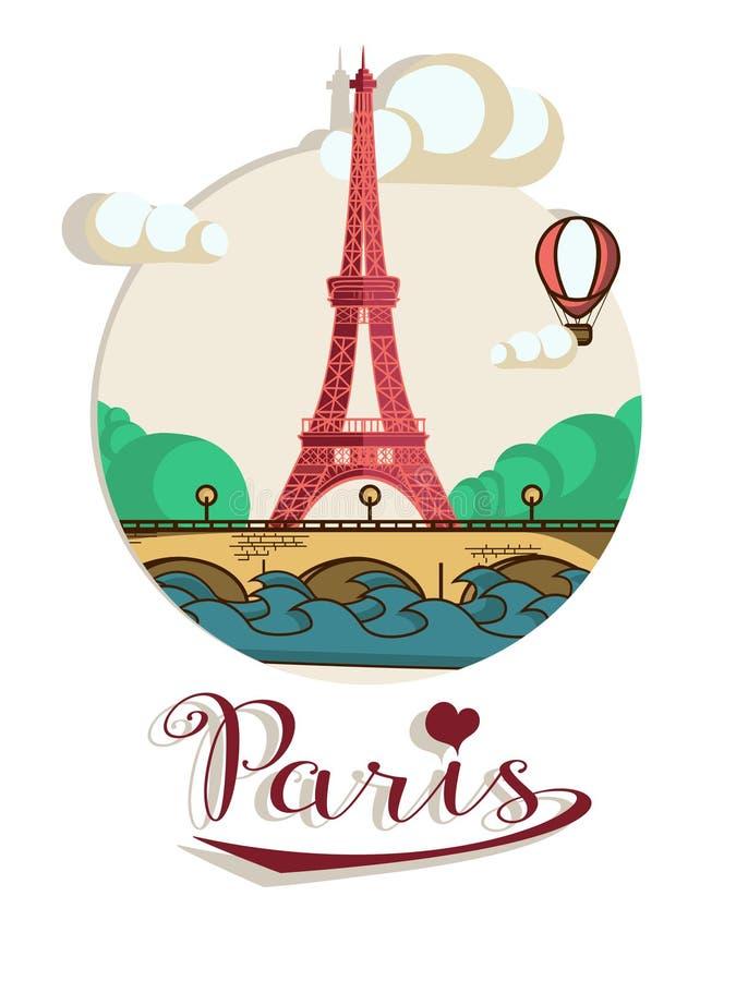 Download De brochure van Parijs vector illustratie. Illustratie bestaande uit schoonheid - 54076232